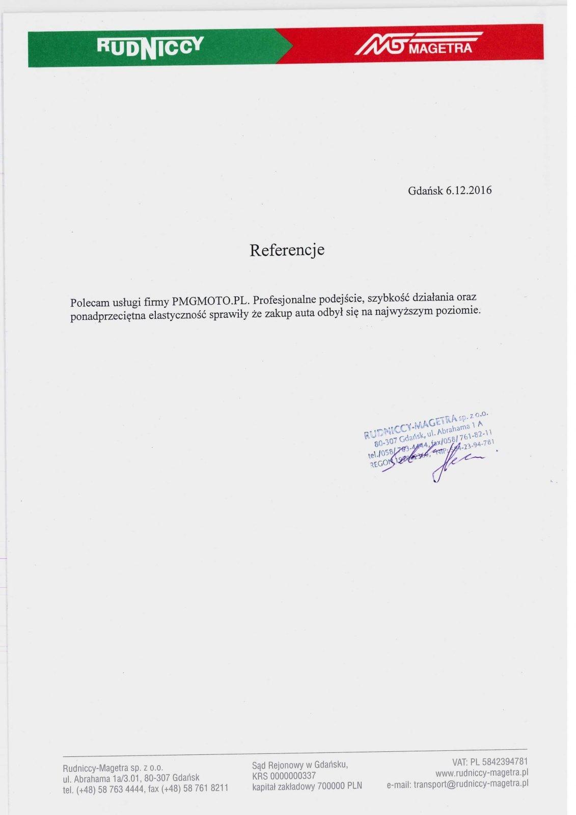 Rudniccy-Magetra    Sp. z o.o.